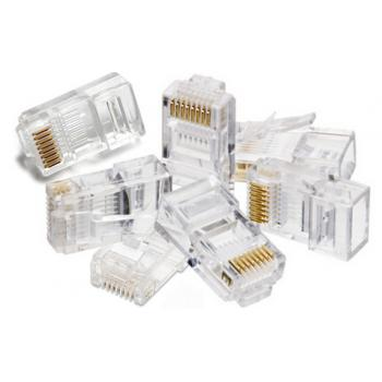 EAGLENET RJ45 CAT5E Network Connectors - 100 PCs