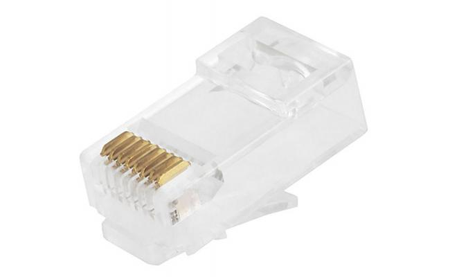 EAGLENET RJ45 CAT6 Network Connectors - 100 PCs