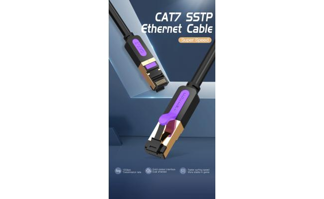 Vention CAT7 SSTP Patch Cord 5M Black